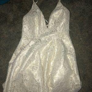 White Gold Shimmer Dress